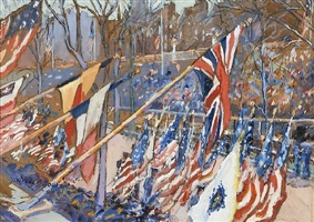 flag parade by gertrude beals bourne