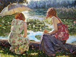 by the lily pond by h. gordon wang