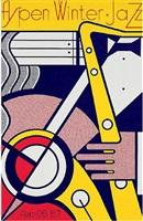 apsen winter jazz poster by roy lichtenstein