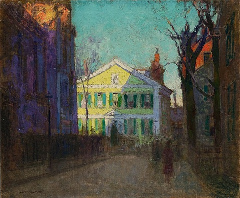 the street beyond (gloucester, massachusetts) by paul cornoyer