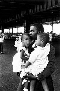 black in white america, new york city by leonard freed