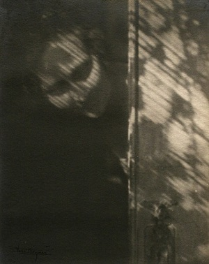 the shadow on my door (self-portrait) by anne w. brigman