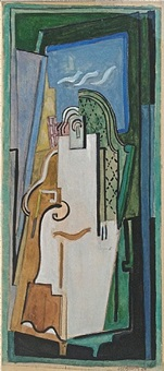 figure en bleu by albert gleizes