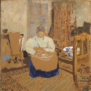 femme dans un intérieur by edouard vuillard