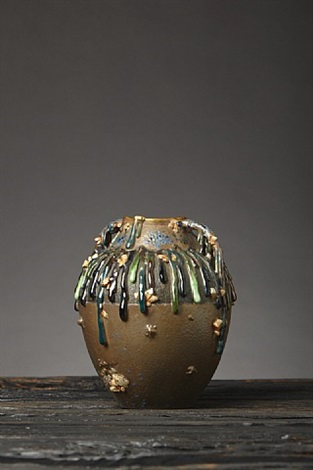 gems and drips vase by ernst wahliss