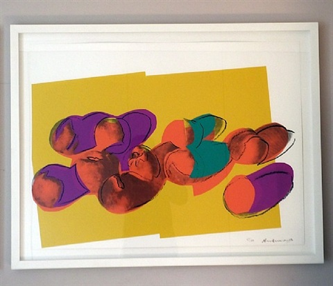 space fruits (peaches) by andy warhol
