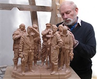 bomber command memorial maquette by philip jackson