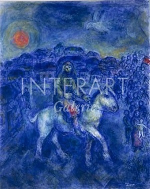 le chevalier by marc chagall