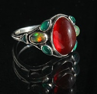 beautiful arts & crafts ring by sibyl dunlop
