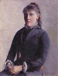 portrait de madame anne-marie hagen by gustave caillebotte