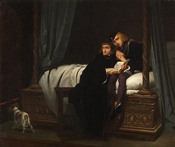 les enfants d'edouard (edward v and the duke of york in the tower) by paul hippolyte delaroche