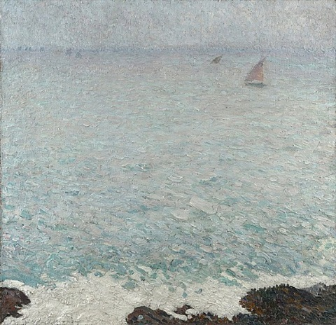 collioure mer grise by henri jean guillaume martin