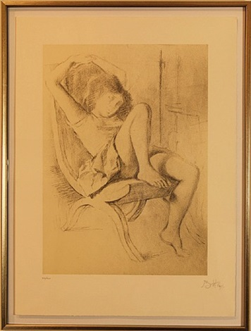 girl in chair by balthus