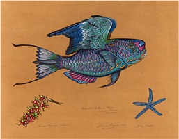 blue parrotfish by james prosek