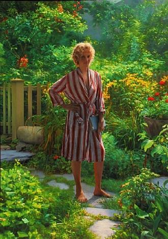 nanny in the garden by scott prior