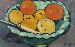 coupe verte, oranges et citrons by louis valtat