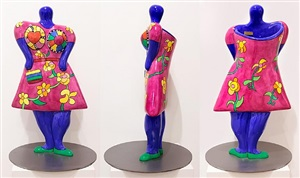 ladies with handbag by niki de saint phalle