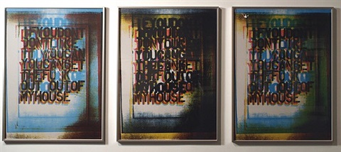 my house, i, ii, iii, by christopher wool
