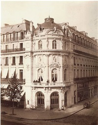 theatre du vaudeville, paris by charles marville