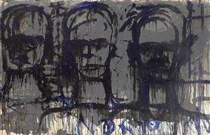 three transparent heads by lester f. johnson
