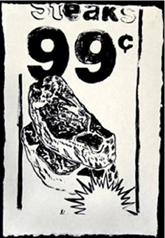 steaks 99 cents by andy warhol