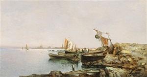 fischerboote in der lagune von venedig by leontine (lea) von littrow