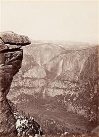 the yosemite falls, from glacier point, yosemite by carleton e. watkins