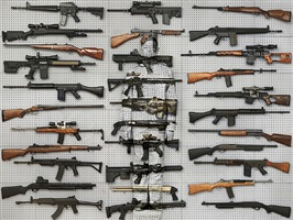 hiding in new york no. 9 - gun rack by liu bolin