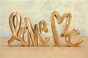 love me sculpture by curtis kulig
