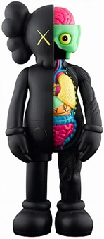 dissected companion 4ft black by kaws