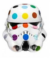 spot painted art wars stormtrooper helmet by damien hirst