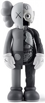 dissected companion 4ft grey by kaws