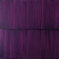 purple veil painting on green i velvet by sylke von gaza