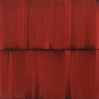 small red veil painting 16 by sylke von gaza