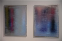 silver diptych by jacob kassay