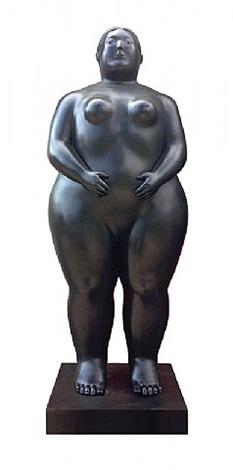 donna in piedi by fernando botero