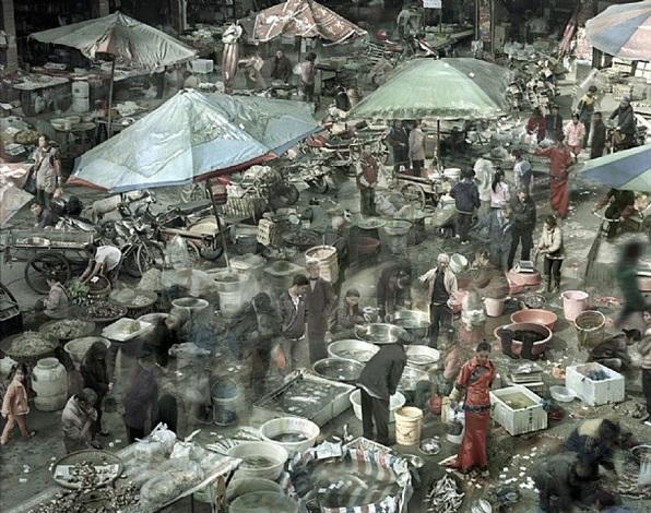 sea food market by qin wen
