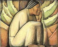 indígena sentada (descansando) by alfredo ramos martínez