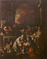 the presentation in the temple with san carlo borromeo by orazio borgianni