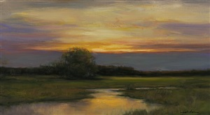 quiet evening (sold) by dennis sheehan
