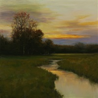 streamside reflections (sold) by dennis sheehan