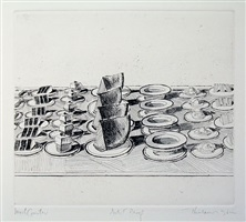 lunch counter, from the series, delights by wayne thiebaud