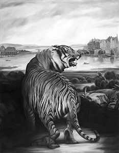tiger (after landseer and thiele) by shelley reed