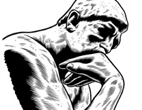 the thinker by charles burns