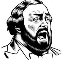 luciano pavarotti by charles burns