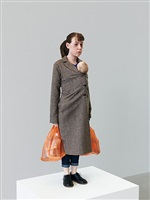 woman with shopping by ron mueck
