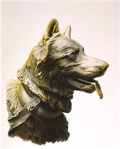 detail, balto sculpture by bernd h. dams and edward andrew zega