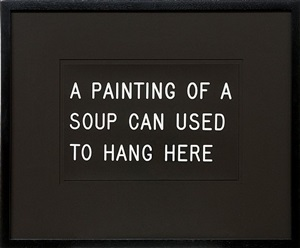 a painting of a soup can used to hang here (233/250) by william anastasi