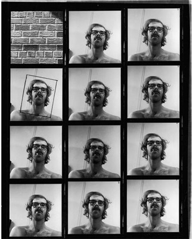 untitled self portrait contact sheet by chuck close
