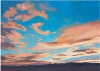 summer clouds. chispa mountain, west texas #1 by katherine alexander